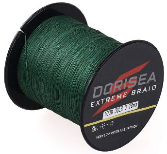 Dorisea Extreme Braid 100% Pe Moss Green Braided Fishing Line