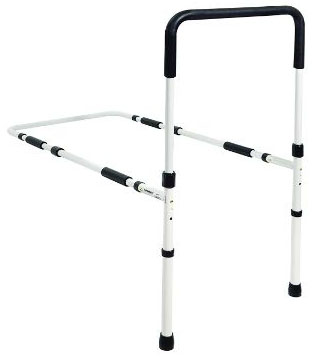Essential Medical Supply Height Adjustable Hand Bed Rail with Floor Supports