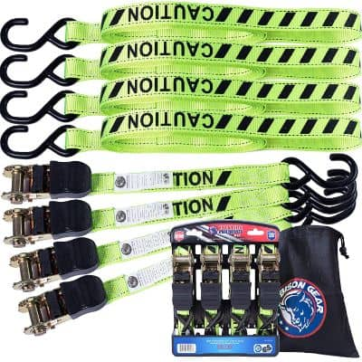 Ratchet Tie Down Straps 20 ft 4 Pack