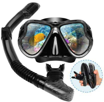 Dry Snorkel Mask Set Snorkeling Gear – Foldable Dry Snorkel Set