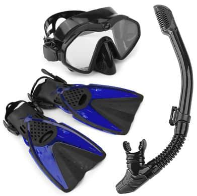 Arkmiido Snorkel Set - Fully Dry Top Snorkel, Impact Resistant Tempered Glass