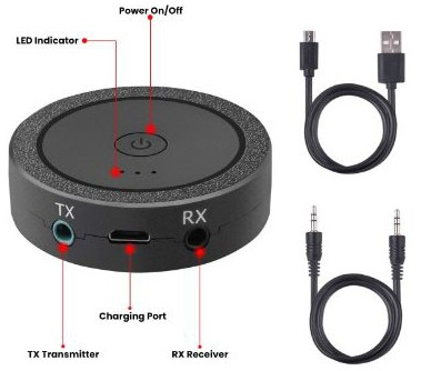Bluetooth Transmitter and Receiver, 2-in-1 aptX Low Latency 3.5mm Bluetooth 4.1 Wireless