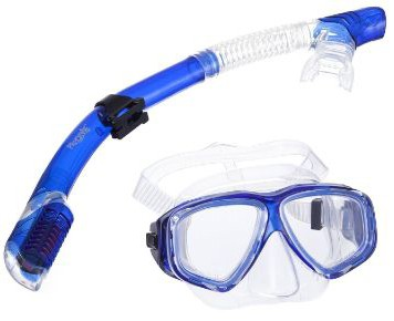 PRODIVE Premium Dry Top Snorkel Set - Impact Resistant Tempered Glass Diving