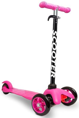 Scooters for Kids Toddler Scooter - Deluxe Aluminum 3 Wheel Glider w:Kick n Go, Lean 2 Turn Wheels, Step 4 Brake