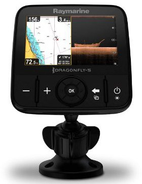 Raymarine Dragonfly Pro Chirp Fish Finder with Built-in GPS and WiFi with Navionics+ Charts and Transducer