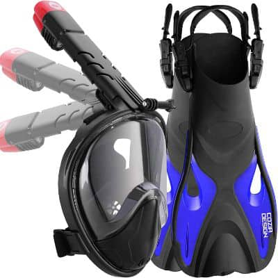 COZIA Design Snorkel Set with Foldable Snorkel MASK
