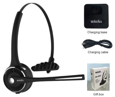 Trucker Bluetooth Headset, Willful Wireless Headset with Microphone, Charging Station