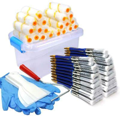 50 Piece Painters Multi-use, Home Tool Kit, Mini Paint Roller Covers, Paint Roller