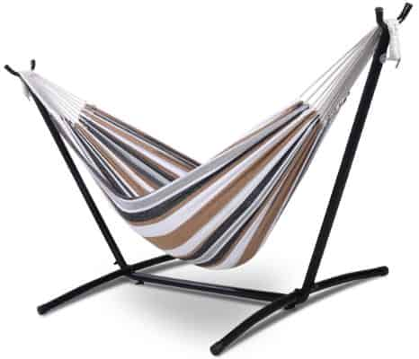 Giantex Double Hammock with Stand, Rope 2 Person Sleeping Portable Swing Hammocks