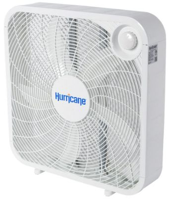 Hurricane Box Fan - 20 Inch _ Classic Series _ Floor Fan with 3 Energy Efficient Speed Settings