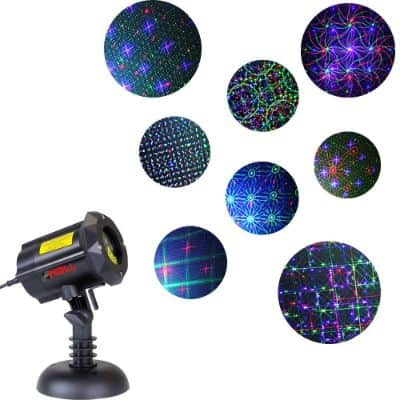 LedMAll® Motion 8 Patterns in 1 RGB Outdoor Garden Laser Christmas Lights with RF