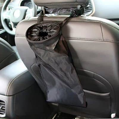 IPELY Car Vehicle Back Seat Headrest Litter Trash Garbage Bag (Black)