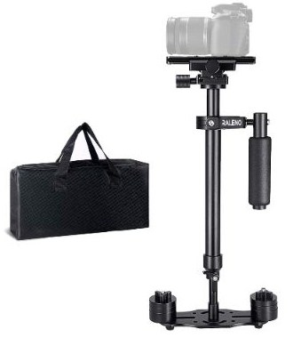 RALENO Handheld Camera Stabilizer Steadicam Aluminium Alloy 24'':60cm with Quick Release Plate
