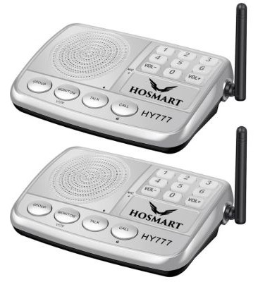 Wireless Intercom System Hosmart 1:2 Mile Long Range 7-Channel Security Wireless Intercom System