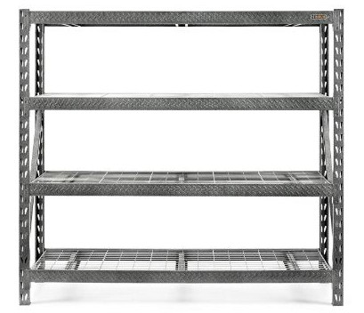 Gladiator GARS774SZG Tool Free 4 Shelf 8000-Pound Capacity Rack Shelf