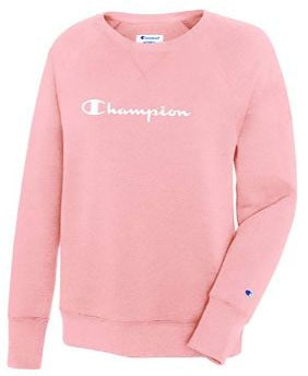 Champion Women's Fleece Boyfriend Crew Sweatshirt