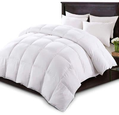 KASENTEX Luxurious White Down Comforter All Seasons Solid White