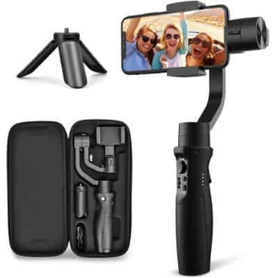 3-Axes Gimbal Stabilizer for iPhone X XR XS Smartphone Vlog Youtuber Live Video Record