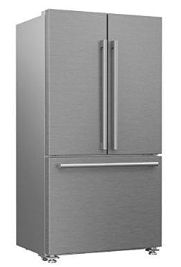 Blomberg BRFD2230SS 22.3 cu.ft. Counter Depth French Door Refrigerator with Ice Maker and Water Dispenser