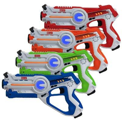 Kidzlane Infrared Laser Tag Game Mega Pack - Set of 4 Players