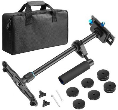 Neewer Aluminium Alloy 24 inches:60 centimeters Handheld Stabilizer with 1:4 3:8 inch Screw Quick Shoe Plate