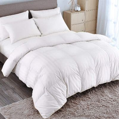 PUREDOWN Goose Down Comforter 600 Fill Power Cotton Shell