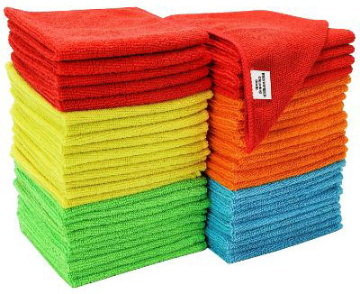 S & T 968601 Assorted 50 Pack Microfiber Cleaning Cloth