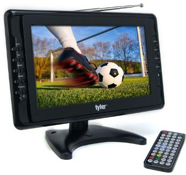 Tyler TTV703 10 Portable Widescreen LCD TV with Detachable Antennas, USB:SD Card Slot, Built-in Digital Tuner