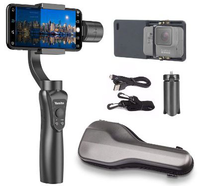 Yomito 3-Axis Handheld Gimbal Stabilizer for Smartphone and GoPro