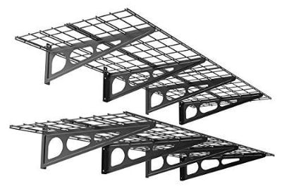 FLEXIMOUNTS 2-Pack 2x6ft 24-inch-by-72-inch Wall Shelf Garage Storage Rack Floating Shelves