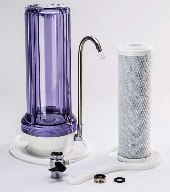 iSpring CKC1C Countertop Water Filter, Clear Housing with Carbon