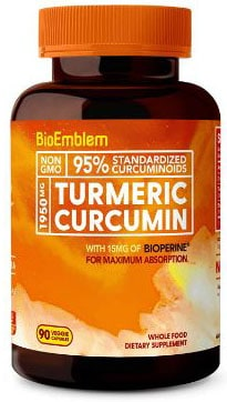 BioEmblem Turmeric Curcumin Supplement with BioPerine