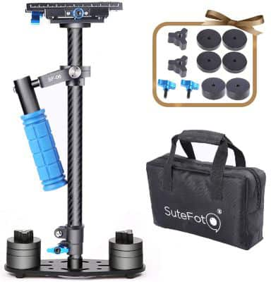 Sutefoto Handheld Camera Stabilizer DSLR Gimbal Steadicam Carbon Fiber 24:60cm up to 6.61lbs:3kg