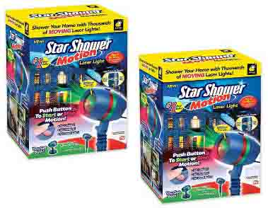 Star Shower Motion Laser Light by BulbHead - Indoor Outdoor Laser Light for Hassle-Free