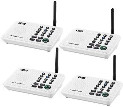 Wuloo Intercoms Wireless for Home 5280 Feet Range 10 Channel 3 Code, for Home, Office, Business