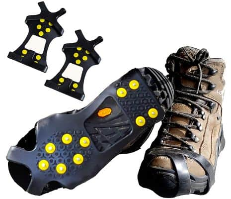Limm Ice Traction Cleats Pro - Grips Quickly and Easily Over Footwear