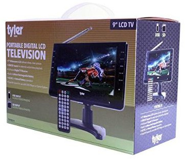 Tyler TTV702-9 Portable Widescreen LCD TV with Detachable Antennas, USB:SD Card Slot, Built-in Digital Tuner, and AV Inputs