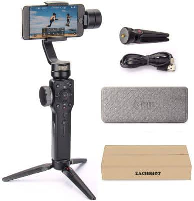 Zhiyun Smooth 4 3-Axes Handheld Gimbal Stabilizer YouTube Video Vlog Tripod for iPhone Xs Max or X 8 Plus