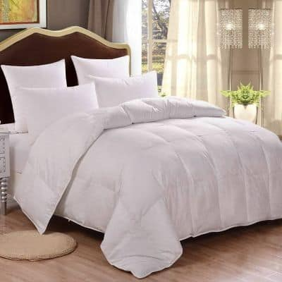 HOMFY Premium Cotton Comforter Queen,Quilted Comforter