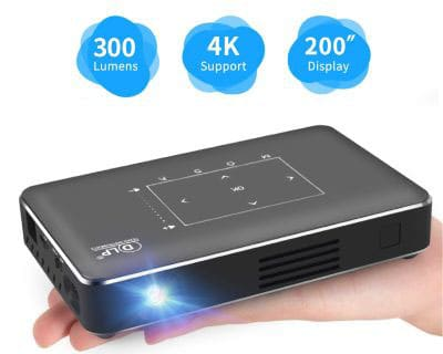 Pico Portable Projector, Haidiscool Mini Pocket Video Smart Phone DLP Android Projector