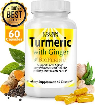 Turmeric Curcumin with Ginger. Anti Aging Support. Joint Support