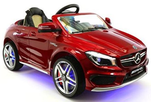 Moderno Kids Mercedes CLA45 Children Ride-On Car with R:C Parental Remote 12V Battery Power