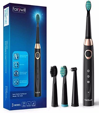 Sonic Electric Toothbrush Rechargeable for Adults, 4 Replacement Heads