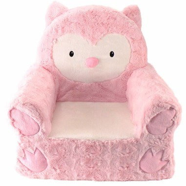 Animal Adventure Sweet SeatsPink Owl Children's ChairLarge Size