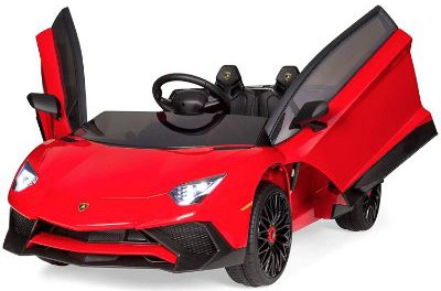 Best Choice Products Kids 12V Ride On Electric Lamborghini with 2 Speeds, LED Lights:Sounds