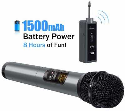 TONOR UHF Wireless Microphone Handheld Mic with Bluetooth Receiver 1:4 Output