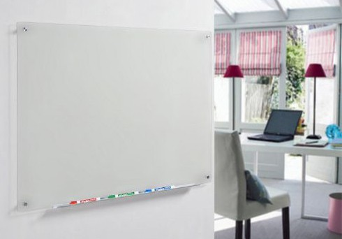 Audio-Visual Direct Frosted Glass Dry-Erase Board Set - 23 5:8 x 35 1:2 Inches - (Non-Magnetic)