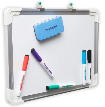 Dry Erase White Board- Hanging Writing, Drawing & Planning Small Whiteboard