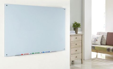 Audio-Visual Direct White Magnetic Glass Dry-Erase Board Set - 17 3:4 x 23 5:8 Inches