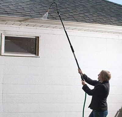 Buyplus Gutter Cleaning Tool - Roof Retractable Gutter Cleaner, Telescoping Pole